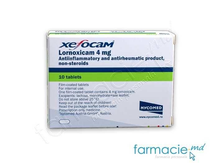Xefocam-rapid pentru dureri articulare. XEFO comprimate filmate 8 mg