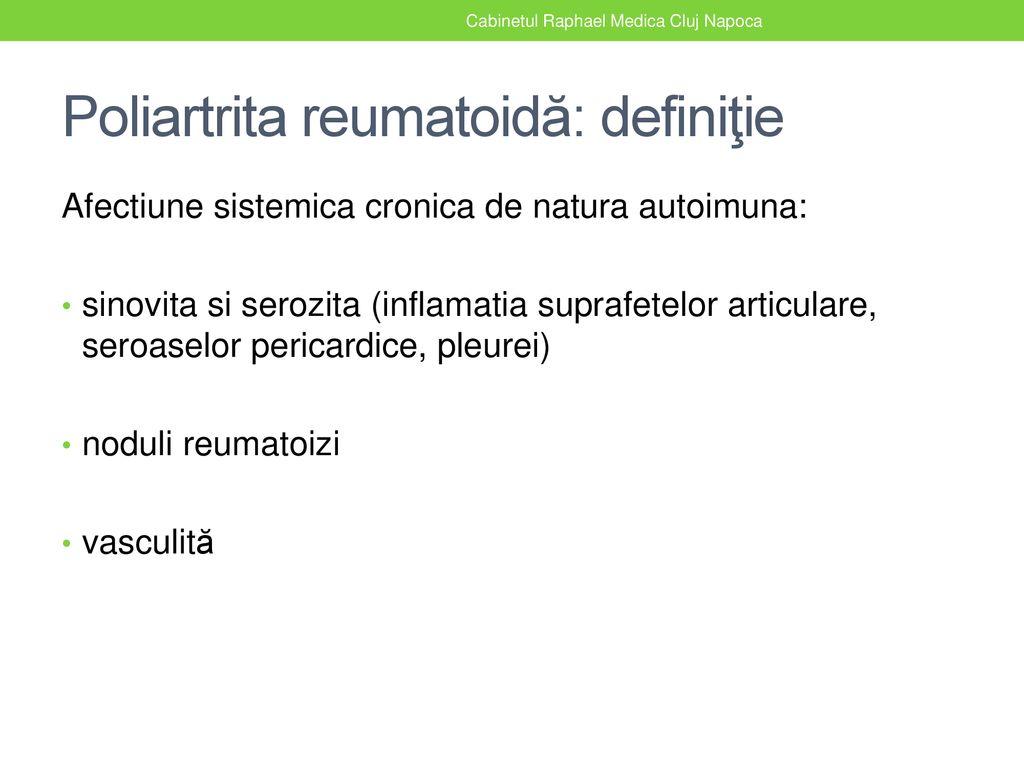inflamație simultană a mai multor articulații în latină tratament articular reiki
