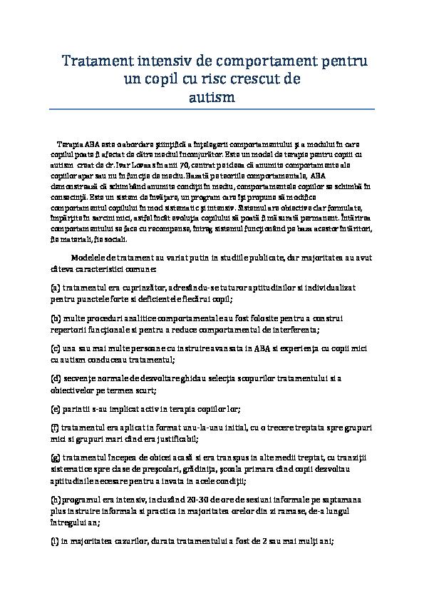 proceduri comune de tratament