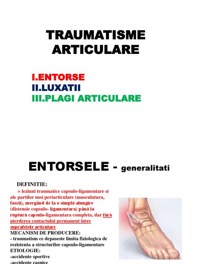 Instabilitatea cronică laterală de gleznă după entorsa externă de gleznă
