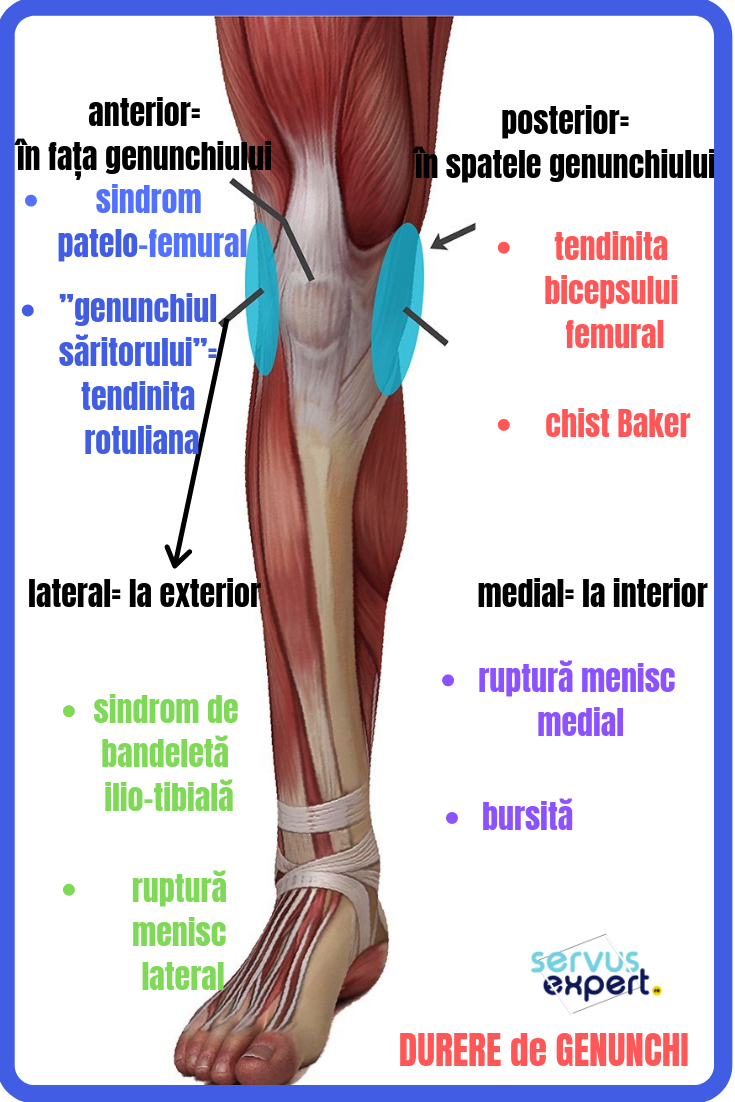 durere pe partea stângă a genunchiului