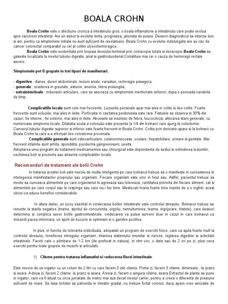 Artrita din bolile inflamatorii intestinale - Aliphia