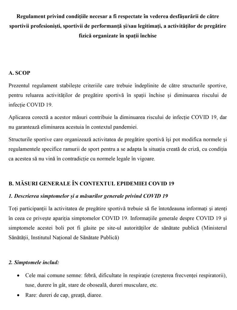 Pregătirea sportivă comună. REGULAMENT 29/05/ - Portal Legislativ