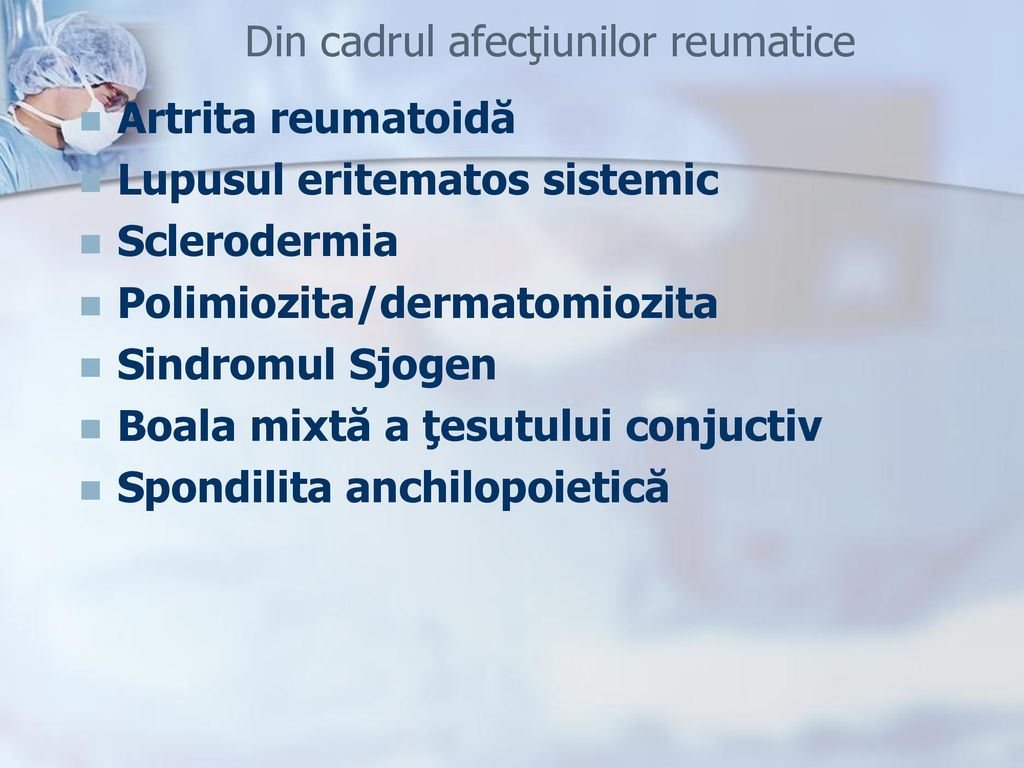 Afectarea pulmonară în cadrul bolilor de sistem
