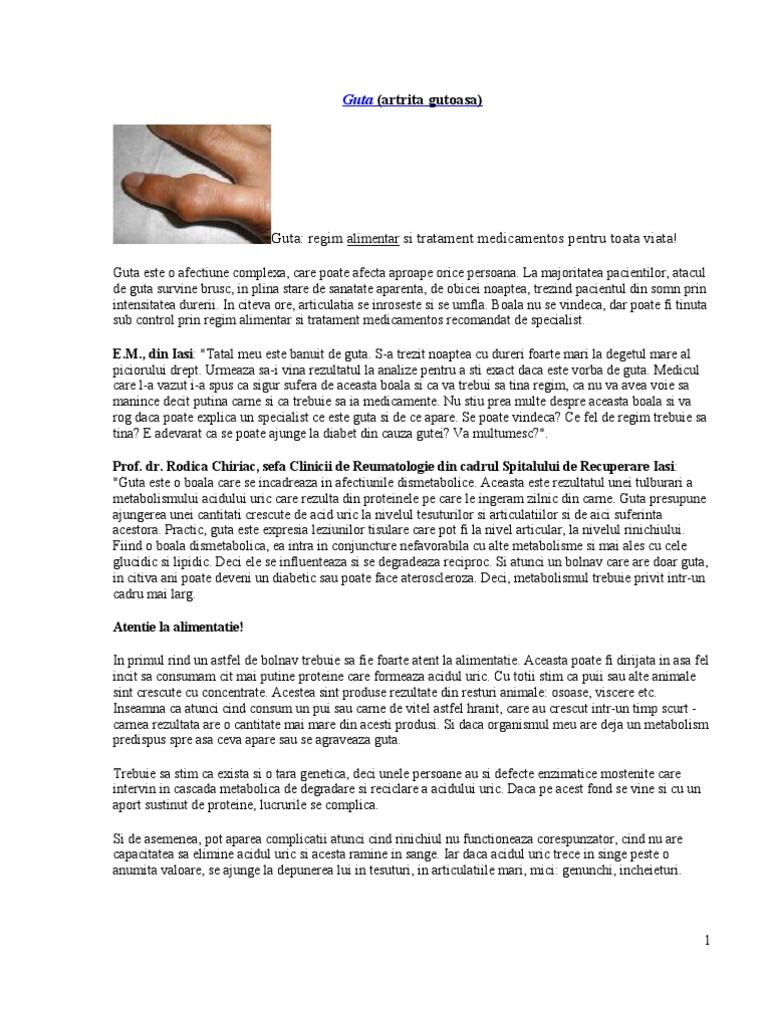 schema de tratament cu artrita