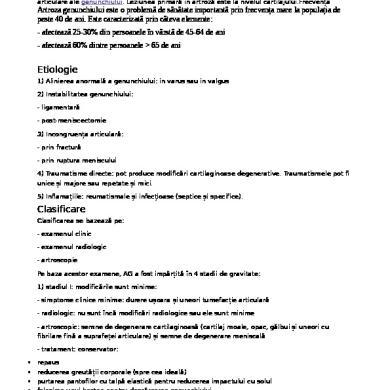 Clasificarea gonartrozei (stadiile gonartrozei)
