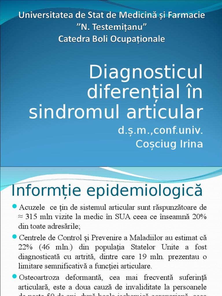 sindroame majore pentru bolile articulare