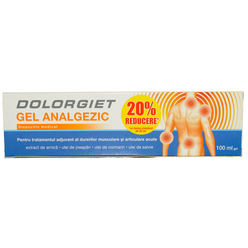 Gel analgezic Dolorgiet, 50 ml, Zdrovit
