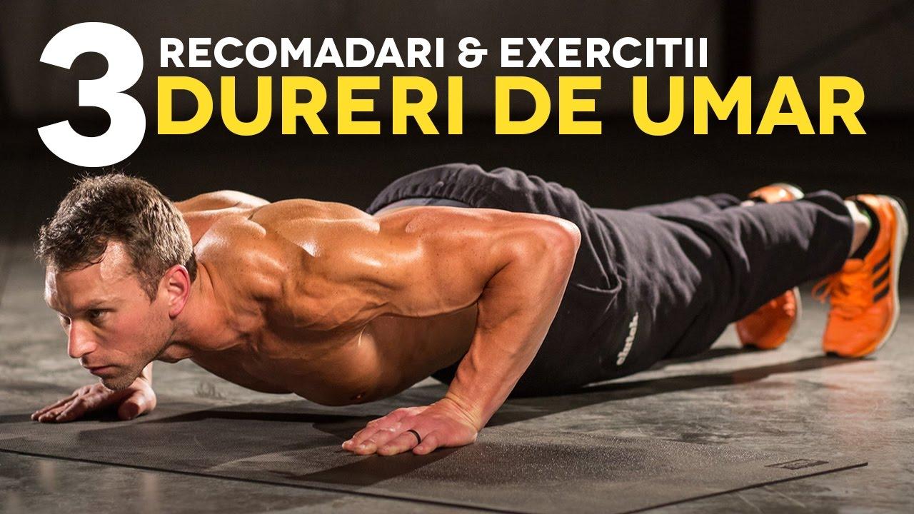 Un set de exerciții pentru durerea articulațiilor umărului
