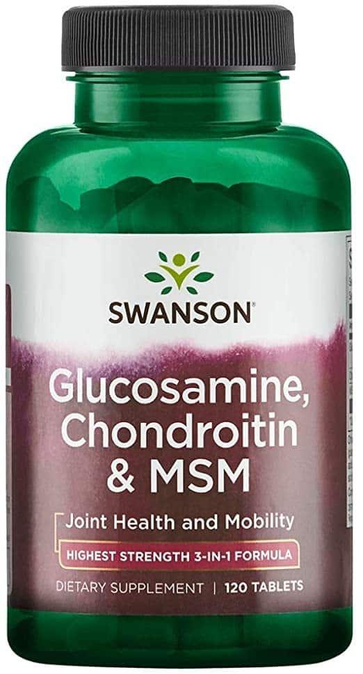 condroitină și glucozamină pulbere