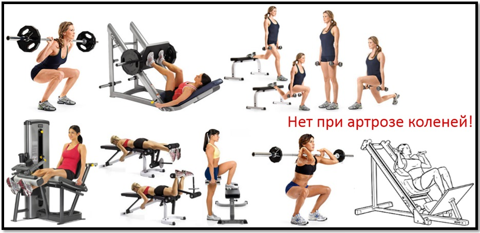 sala de sport pentru artroza genunchiului