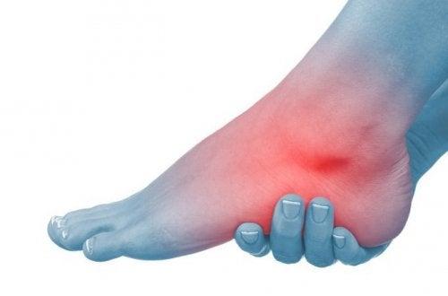 dureri și umflături la nivelul articulației gleznei